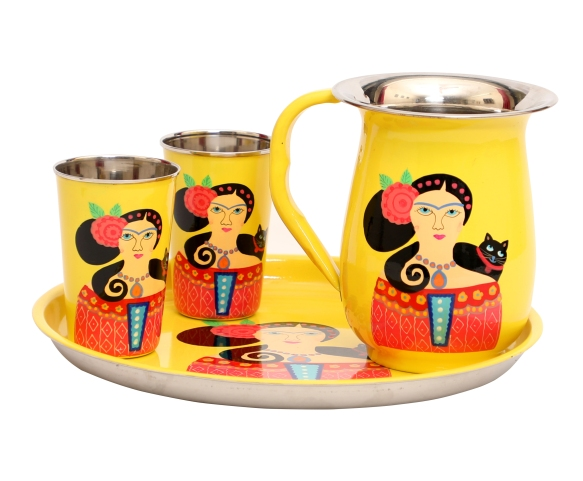 Steel Lady Jug Set