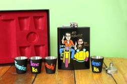 Hip Flask with Shot Glasses- Munna Bhai