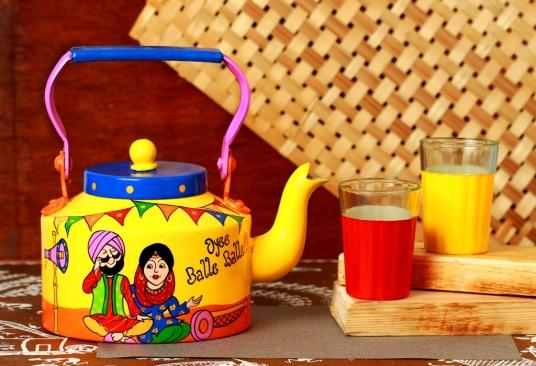 Punjabi Couple, Hand made Kettle