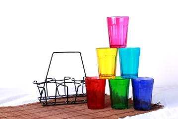 Multicolored Chai Glasses