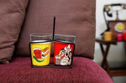 decorative tea glasses