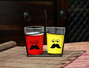 funky tea cups