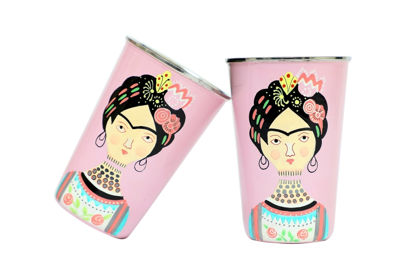 Steel Tumbler Big - Lady Rose Pink