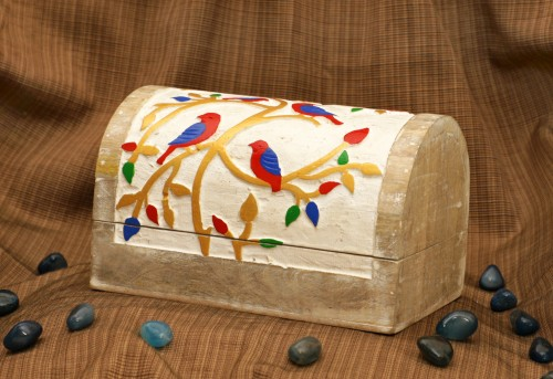 Jewelry Box - Bird colorful