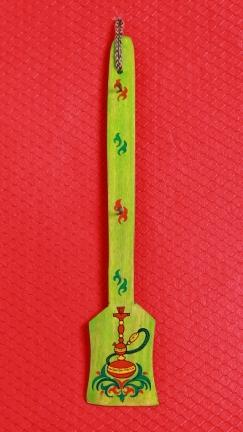 Wooden Hookah Holder in Green