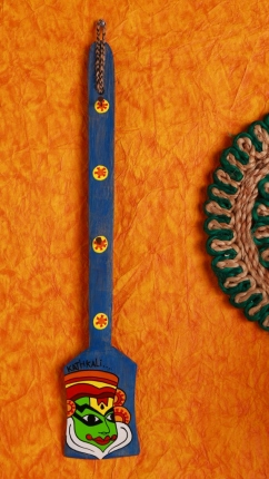 Wooden Kathakali Holder in Blue