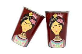 Steel Tumbler Big- Lady Rose Maroon
