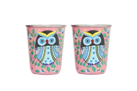 Steel Tumbler Small - Owl Eye Pink