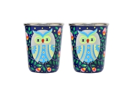Steel Tumbler Small - Owl Eye Blue