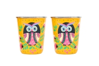 Steel Tumbler Small - Owl Eye Yellow