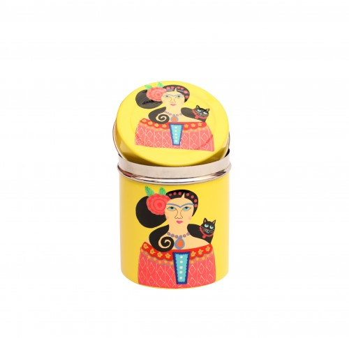 Steel Canister Lady Set of Yellow
