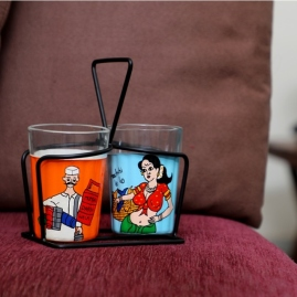 Tapri Glasses - DabbaWala MachhiWali (Set of 2)