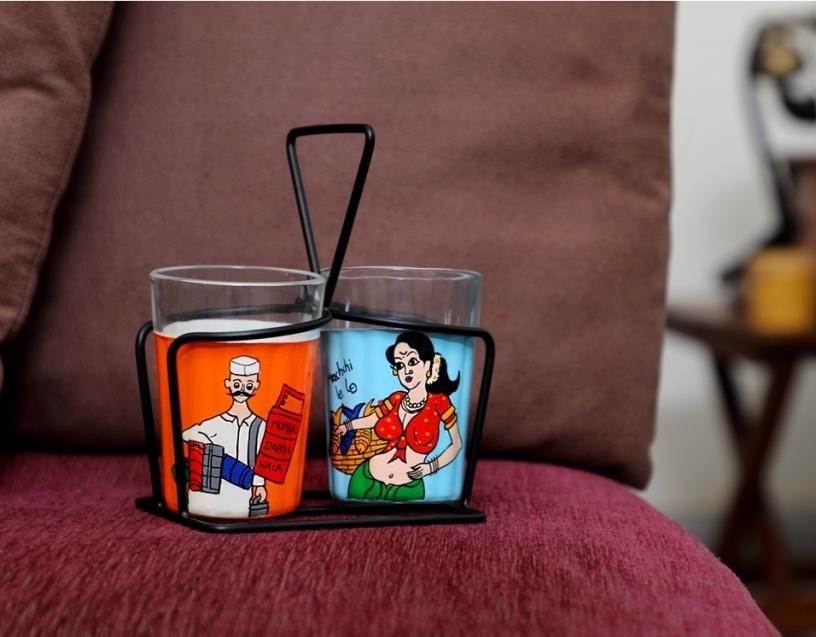 Tapri Glasses - DabbaWala MachhiWali (Set of 2)