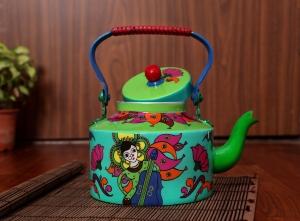 Steel Kettle - Durga Pooja