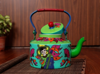 Steel Kettle - Durga Pooja