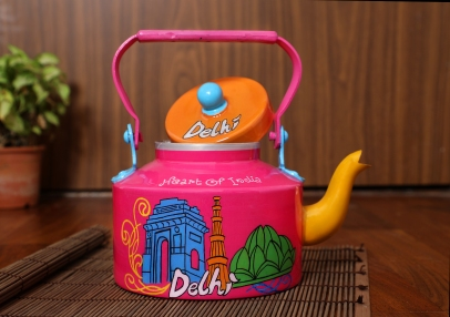 Steel Kettle - Delhi Theme Pink