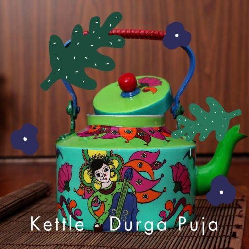 Steel Kettle - Durga Puja
