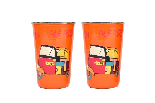 Stainless Steel Tumbler - Auto Orange