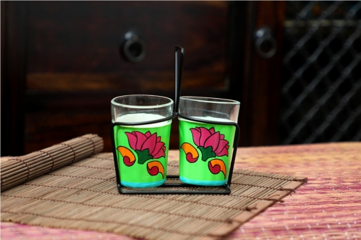 Tapri Glasses _ Lotus (Set of 2)